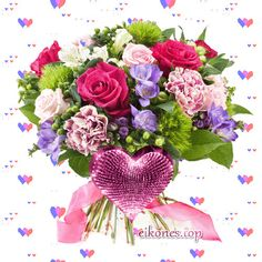 Beautiful Flowers Pictures, Flower Pictures, Floral Wreath, Happy Birthday, Valentines, Wreaths, Decor, Flowers, Good Evening Greetings