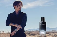 @dior casts Johnny Depp in film sauvage scent. [Photo: Courtesy]