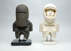 """Saatchi Online Artist: Andrew Barton; Ceramic, 2012, Sculpture """"Wannabe Astronaut"""""""
