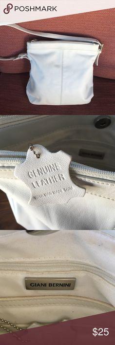 Gianni Bernini white genuine leather purse Sale today-Very good condition Giani Bernini Bags Shoulder Bags