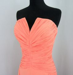 Vintage Peach Evening Gown designed by Tony Bowls