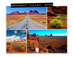Monument Valley, Utah - photo collage