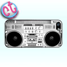 White Boombox Vintage 80's Hipster  iPhone 5 by CasesandTees, $12.99