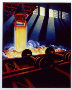 Steel mill: glowing ingot,  Byron Musser , c. 1938, United States New York New York
