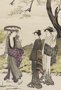 Tea Cultivation at Uji. Ukiyo-e woodblock print, 1780's,  Japan, by artist Kubo Shunman