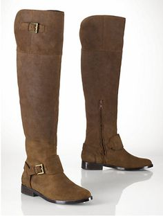 Ralph Lauren Oiled Suede Over-the-Knee Boots $69.79 shipped! (list $298)