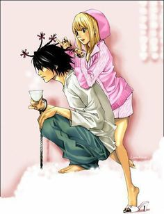 Heather Yaron uploaded this image to 'Anime Couples'. See the album on Photobucket. Detective, Amane Misa, Nate River, L Death Note, L Lawliet, Maid Outfit, Kind Person, History Projects, Shinigami