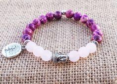 INNER Rose Quartz Bouddha Bracelet Yoga par BohemianChicbead