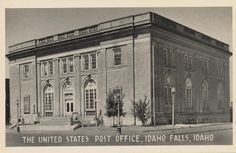United States Post Office - Idaho Falls, Idaho, 1953 Pocatello Idaho, Idaho Falls, Post Office, Vintage Postcards, Family History, To Go, United States, Gems, America