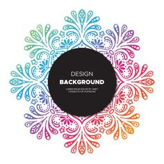 Background of colorful  hand drawn floral design Free Vector