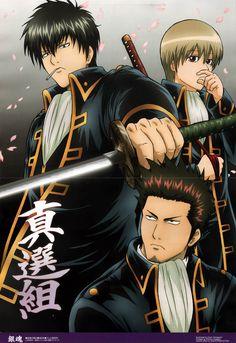 Gintama - Hijikata Toushirou, Kondo Isao, Okita Sougo