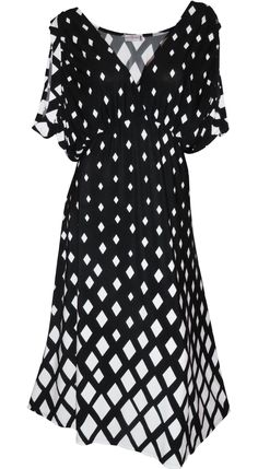 2fbd34fc2a8 Funfash Plus Size Clothing Black White Cold Open Shoulders Dress Made in USA  - FunFash