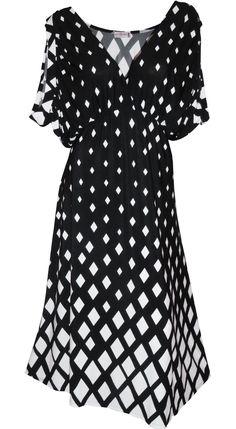 Funfash Plus Size Black White USA Women's Dress Plus Size Cocktail Dress