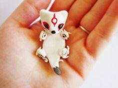 Chibiterasu Okamiden Figure-Hand sculpted polymer clay miniature. $16.00, via Etsy.