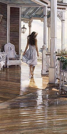 Steve Hanks - Sunshine After The Rain - Giclee
