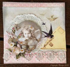 inkido: Sweet card for the spring... Söta kort till våren med Papercraftscandinavia