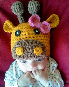 Hey, I found this really awesome Etsy listing at https://www.etsy.com/listing/121445595/crochet-giraffe-hat