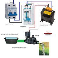 Esquemas eléctricos: programador de riego por goteo casero