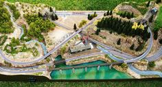 N scale Great Northern layout | This is a small size N scale… | Flickr