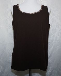 fcefab35c7499 ZYNERGY by Chico ~ Womens Size 2 Brown Sleeveless Tank Top Activewear ~ EUC   ZYNERGYbyChico  ActivewearTank