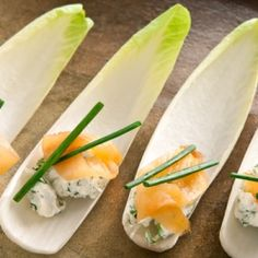 Endive with Smoked Salmon Appetizer. Elegant no-bake bites that get high marks for presentation.
