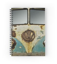 VW Rusty - Notebook #notepad #notebook #stationery #paper #pad #jotter #student #VW #Volkswagen #Camper #Rusty #Retro #Bus #Ratty