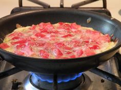 The continual experimenting in our kitchens.: Tomato Frittata (HCG Friendly)