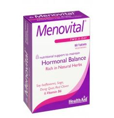 (Menovital) One of the most challenging stages of a woman's life is the menopause; levels of female hormones, oestrogen and progesterone begin to fall during this time. This can cause unpleasant symptoms such as hot flushes, night sweats, irritability, mood swings and depression. MenoVital is one of the most comprehensive Menopause products on the market.