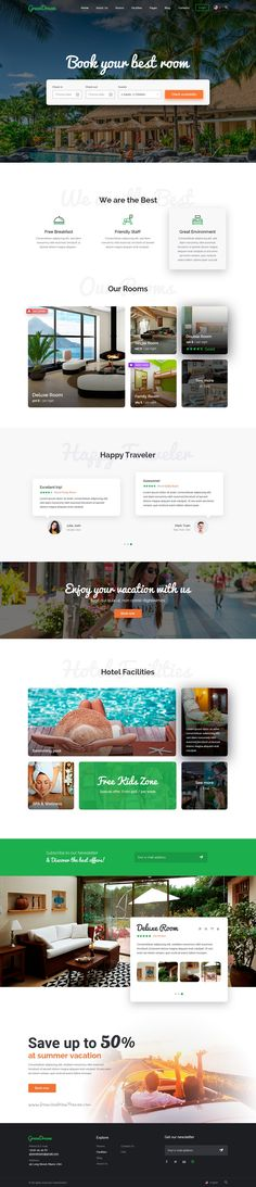 GreenDream is premium 2 in 1 #PSD #template designed for #hotel and room reservation website download now➯ https://themeforest.net/item/-green-dream-hotel-psd-template/16919398?ref=Datasata