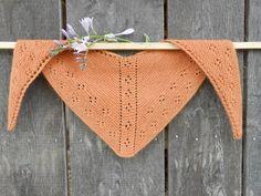 Hand Knit Alpaca Scarf/Triangular Scarf/Mini Shawl/Pumpkin-Orange-Peach-Orange-Brown-Rust Colored Scarf/ Women's Eyelet Scarf/Alpaca Shawl by HaulinHoofFarmStore on Etsy