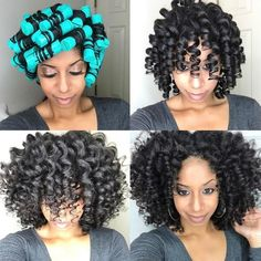 Roller set natural hair african american hairstyles buns and gorgeous curls black hair information urmus Gallery
