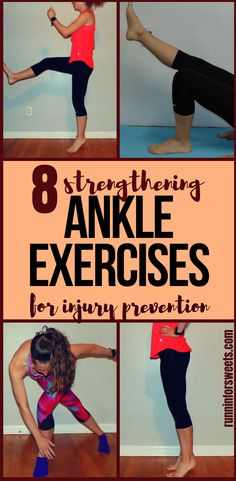 These 8 ankle exercises are a simple way to maintain optimal strength and stability for runners. Include these simple ankle strengthening exercises during your weekly strength training routine to banish weak ankles and prevent common injuries such as spra Ankle Strengthening Exercises, Stability Exercises, Sprained Ankle Exercises, Ankle Rehab Exercises, Foot Exercises, Chest Exercises, Ankle Stretches, Aerobic Exercises, Strengthen Ankles