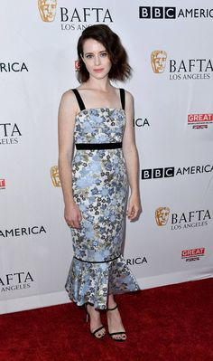 Claire Foy in Erdem.