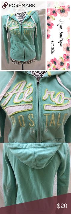 Aeropostale hoodie Aeropostale hoodie in overall great condition. No rips or major stains except very end of sleeves had a little bit of discoloring. Size medium. Aeropostale Tops Sweatshirts & Hoodies
