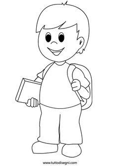 Kluk s knihou - omalovánka Kids Printable Coloring Pages, Animal Coloring Pages, Colouring Pages, Coloring Books, Pencil Art Drawings, Cartoon Drawings, Drawing For Kids, Art For Kids, Precious Moments Coloring Pages
