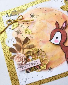 """Tutoriel carte """"Joyeux Noël"""" - mon bric à scrap"""