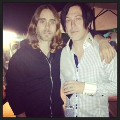 30secondstomars .@JARED LETO + his old friend @troyvanleeuwen at @volt_festival #marsatvolt Nice to share a stage w/ @Kim Carney!