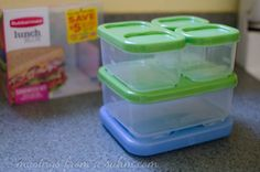 Rubbermaid LunchBlox Sandwich Kit makes organizing back to school lunches a snap! - from Musings From a SAHM