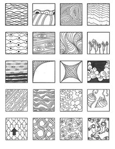 Best easy art designs to draw doodles tangle patterns Ideas Doodles Zentangles, Zentangle Drawings, Zentangle Patterns, Doodle Drawings, Easy Zentangle, Zen Doodle Patterns, Doodle Borders, Doodle Art, Tangle Doodle