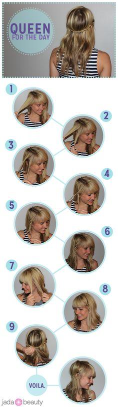 DIY Wedding Hair  : DIY Crown Rope Braid
