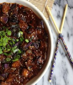 Spicy Chinese Eggplant: SO easy & outrageously delicious! (gf, vegan)