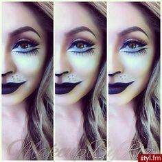 Halloween makeup: cat or lion