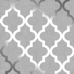 Henderson Interiors Camden Trellis Wallpaper Soft Grey / Silver - H980527   Home & Garden, Home Improvement, Building & Hardware   eBay!