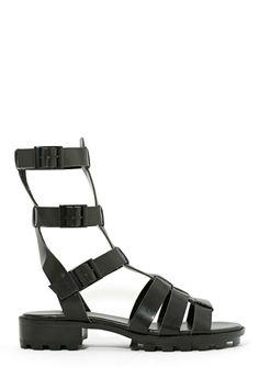 Shoe Cult Joan Gladiator Sandal - Black by: Shoe Cult