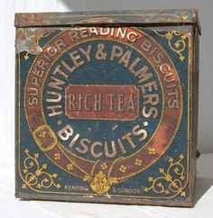 Biscuit Tin From a Grocery Shop Display - Rich Tea Biscuits