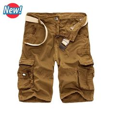 Summer Brand Clothing Cotton Male Fashion Army Work Shorts