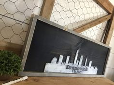 Excited to share this item from my #etsy shop: Rustic Wedding Guest Book Alternative-  Personalized City Skyline Wall Art - Wedding Gift for Couple - Destination Wedding Sign #weddings #wedding #skylineguestbook #personalizedskyline #cityscapeguestbook