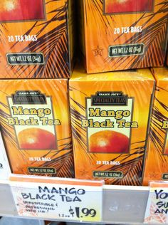 Want to try - Mango Tea @ Trader Joes