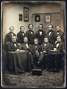 [Boston Lawyers or Clergymen (?)]  Albert Sands Southworth  (American, West Fairlee, Vermont 1811–1894 Charlestown, Massachusetts)    Artist:      Josiah Johnson Hawes (American, Wayland, Massachusetts 1808–1901 Crawford Notch, New Hampshire)  Date:      ca. 1850