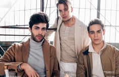 Matthew Daddario with Dominic Sherwood and Alberto Rosende @ Bello Mag